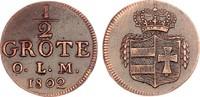 Oldenburg 1/2 Grote 1802 vz, zap. Peter Friedrich Wilhelm 1785-1823 75,00 EUR  zzgl. 4,95 EUR Versand