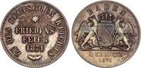 Baden Gedenkkreuzer 1871 vz, feine Patina Friedrich I. 1852-1907 10,00 EUR  zzgl. 4,95 EUR Versand
