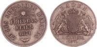 Baden Gedenkkreuzer 1871 ss, Kratzer Friedrich I. 1852-1907 4,00 EUR  zzgl. 4,95 EUR Versand