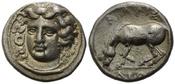 AR Drachme 350-325 v.Chr., Thessalien, Stadt Larissa, ss-vz