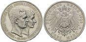 3 Mark 1915 A, Braunschweig-Lüneburg, Ernst August, 1913-1918, Regierungsantritt, Erstabschlag