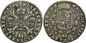 1/2 Patagon / Albertin o.J., Spanische Niederlande, Albert und Isabella, 1598-1621, ss