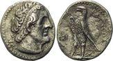 AR Tetradrachme 266/5 v. Chr., Ägypten, Ptolemaios II., 285-246 v. Chr., f.ss
