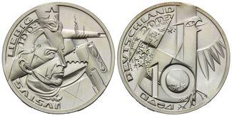 BRD, 10 Euro Probeprägung 2003, st Victor ...