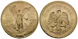 Mexiko, 50 Pesos 1943  Libertad - Siegesgö...