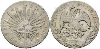 Mexiko, China, 8 Reales 1863 ss chinesisch...
