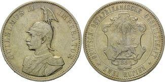 2 Rupien 1894 Deutsch Ostafrika, Wilhelm II., 1888-1918, ss-f.vz
