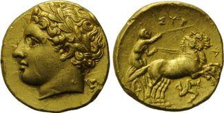 Dekadrachme, 317-310 v. Chr. Sizilien, Syrakus, Agathokles, 317-289 v.Chr. vz