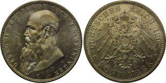 5 Mark 1902, Sachsen-Meiningen, Georg II., 1866-1914, st