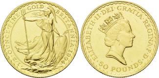 50 Pounds 1994, Großbritannien, Elisabeth II., seit 1952, min.Kr., st