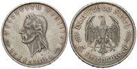 5 Mark 1934 F Drittes Reich, Friedrich Sch...