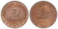 2 Pfennig 1967 G BRD, Magnetischer Eisenkern, selten, PP  2795,00 EUR kostenloser Versand