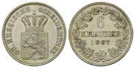 Hessen-Darmstadt, 6 Kreuzer Ludwig III., 1848-1877,