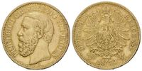 10 Mark 1872 G Baden, Friedrich I., 1852-1907, vz+  545,00 EUR