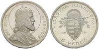5 Pengö 1938, Ungarn, 900. Todestag des Hl. Stephan I., st  28,00 EUR kostenloser Versand