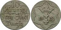 10 Pfennig 1923 Danzig, Freie Stadt, st  25,00 EUR  zzgl. 6,40 EUR Versand