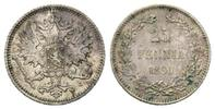 25 Penniä 1890 Finnland, Alexander III. 1881-1894, ss+  50,00 EUR kostenloser Versand