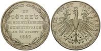 Frankfurt, Doppelgulden 1849, f.st Freie Stadt, 1815-1866, Goethes 100. ... 285,00 EUR  zzgl. 9,40 EUR Versand