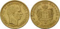 20 Drachmen 1884, Griechenland, Georg I., 1863-1913, ss-vz  305,00 EUR kostenloser Versand