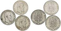 3x 2 Mark 1888 A, Preussen, Friedrich III., 1888, s-ss  146,00 EUR kostenloser Versand