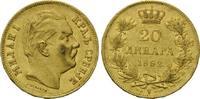 20 Dinara 1882 Serbien, Milan Obrenovich IV., 1882-1889, vz-st  485,00 EUR  zzgl. 9,40 EUR Versand
