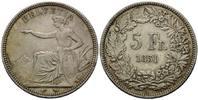 5 Franken 1851, Schweiz, Bundesstaat, seit 1848, ss-f.vz  325,00 EUR kostenloser Versand