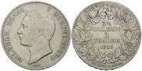 Doppeltaler 1843, Württemberg, Wilhelm I., 1816-1864, ss  350,00 EUR kostenloser Versand