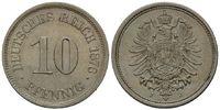 10 Pfennig 1876 J, Kaiserreich, Kleinmünze, f.st  62,00 EUR kostenloser Versand