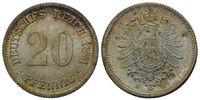 20 Pfennig 1874 D, Kaiserreich, Kleinmünze, st  58,00 EUR kostenloser Versand