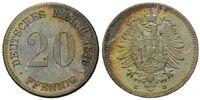 20 Pfennig 1876 E, Kaiserreich, Kleinmünze, st  58,00 EUR kostenloser Versand