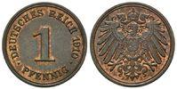 1 Pfennig 1910 J, Kaiserreich, Kleinmünze, unz.  42,00 EUR kostenloser Versand