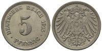 5 Pfennig 1915 D, Kaiserreich, Kleinmünze, vz-st  19,00 EUR kostenloser Versand