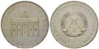 20 Mark 1990 A, DDR, Brandenburger Tor, mit Punze 22.12.1994, st  12,00 EUR kostenloser Versand