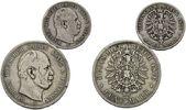 2 Mark; 5 Mark 1876 Preussen, Wilhelm I., 1861-1888, s, 2 Stk.  43,00 EUR  zzgl. 6,40 EUR Versand