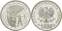 1000 Zloty 1987, Polen, Olympische Spiele 1988 in Seoul, PP  25,00 EUR kostenloser Versand