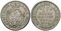 1/4 Taler 1768 FU, Hessen-Kassel, Friedrich II., 1760-1785, ss-vz  75,00 EUR kostenloser Versand