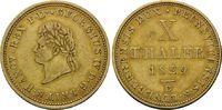 10 Taler 1829 B, Hannover, Georg IV., 1820-1830, ss+  2575,00 EUR kostenloser Versand