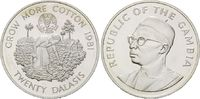 20 Dalasis 1981 Gambia, FAO - Welternährungstag 1981, st  25,00 EUR