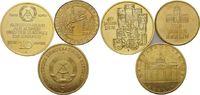 10 Mark 1989; 5 Mark 1980; Medaille  DDR, 40 Jahre DDR; Brandenburger T... 35,00 EUR