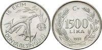 1500 Lira 1981 Türkei, FAO, st  17,50 EUR
