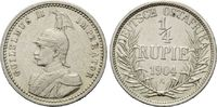 1/4 Rupie 1904 A Deutsch Ostafrika, Wilhelm II., 1888-1918, vz  75,00 EUR72,00 EUR