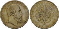 5 Mark 1888, Hessen, Ludwig IV., ss-vz  2295,00 EUR kostenloser Versand