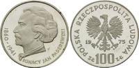 100 Zloty 1975, Polen, Ignacy Jan Paderewski, PP  14,00 EUR kostenloser Versand