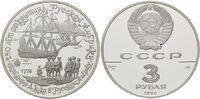3 Rubel 1990, Russland, James Cook auf den Aleuten, Alaska - Segelschif... 42,00 EUR kostenloser Versand