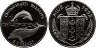 5 Dollars 1992, Niue, Endangered Wildlife - Delphin, PP  12,00 EUR kostenloser Versand