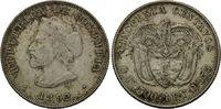 50 Centavos 1892, Kolumbien, Republik, seit 1886, ss-vz  56,00 EUR