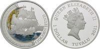 Dollar 2011 Tuvalu, Schiffe - Golden Hind, PP, Zertifikat, Etui  95,00 EUR kostenloser Versand