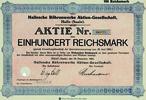 100 RM 1924, Deutschland, Hallesche Röhrenwerke AG, Halle (SA), Aktie 1... 19,00 EUR kostenloser Versand