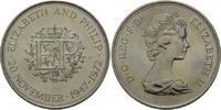 25 Pence 1972 Großbritannien, Silberne Hochzeit, st  9,00 EUR  zzgl. 6,40 EUR Versand