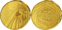 5000 Euro 2014, Frankreich, Gallischer Hahn, PP, Etui, Zertifikat  5445,00 EUR kostenloser Versand